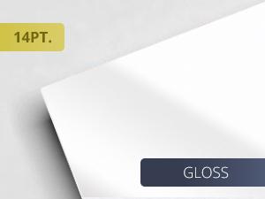14pt. Gloss UV Coated