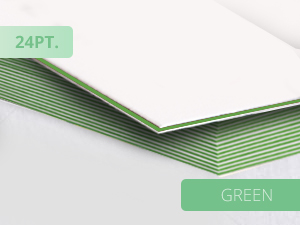 25pt Ultra Thick Business Cards Green