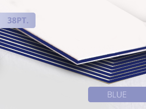 38pt Ultra Thick Business Cards Blue