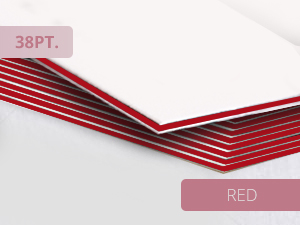 38pt Ultra Thick Business Cards Red