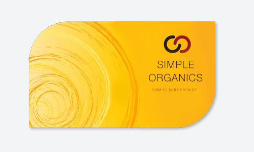 Leaf Shaped Business Cards